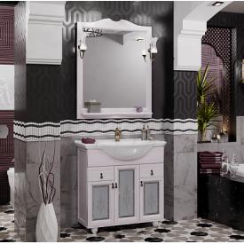 Мебель для ванной Тибет 80, с худ.стеклом Opadiris Z0000009333 (Тумба с раковиной + зеркало)