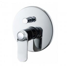 Встраиваемый смеситель для ванны и душа BelBagno BOR-BASM-CRM