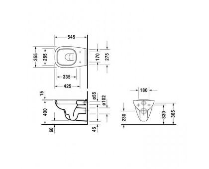 Унитаз подвесной Duravit D-Code 25350900002 (45351900A1)