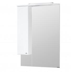 Зеркальный шкаф Майами 75 левый белый Aquaton 1A047502MM01L