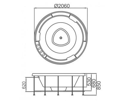 Акриловая ванна Gemy G9263 K