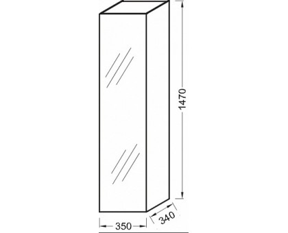 Колонна Jacob Delafon 35 cм EB998-N18
