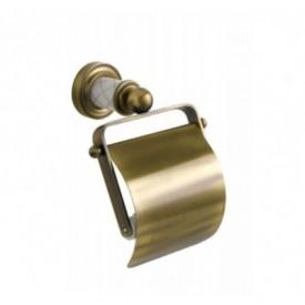 Держатель для туалетной бумаги с крышкой Boheme Murano Cristal 10901-CRST-BR