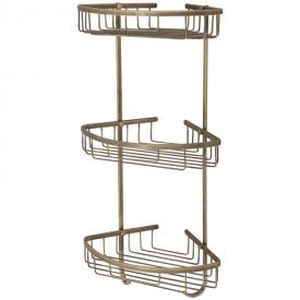 BASKET Решетка тройная угловая 21x21хh58,5 см., бронза