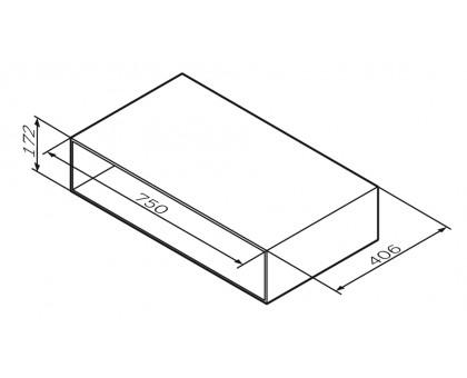 M90OHX0750NF GEM Open-space для базы подвесной 75 см цвет: орех текстурированный