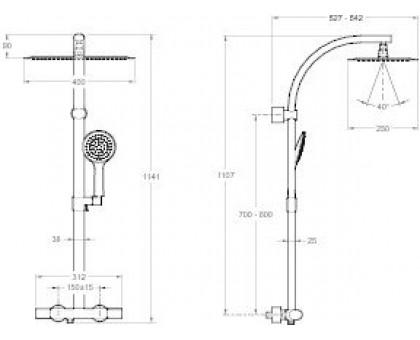 Душевая колонна Jacob Delafon E20642RU-CP