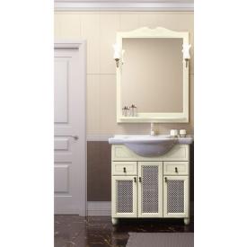 Мебель для ванной Тибет 70 Opadiris Z0000009707 (Тумба (дверцы с решеткой) с раковиной + зеркало)