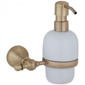 GIALETTA Дозатор жидкого мыла настенный, керамика/бронза