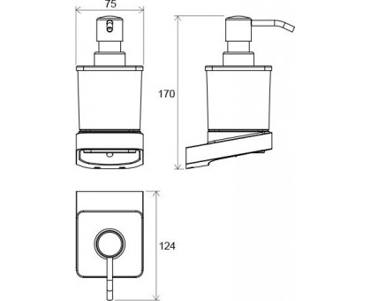 Дозатор для жидкого мыла Ravak X07P323