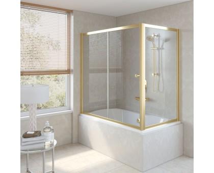 Душевая шторка на ванную ZV+ZVF 160*85 09 01 VegasGlass