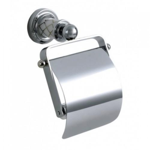 Держатель для туалетной бумаги с крышкой Boheme Murano Cristal 10901-CRST-CH