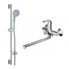 Комплект для ванной комнаты Bravat Simple 2 в 1  F00417C