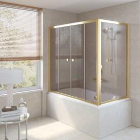 Душевая шторка на ванную Z2V+ZVF 160*75 09 05 VegasGlass