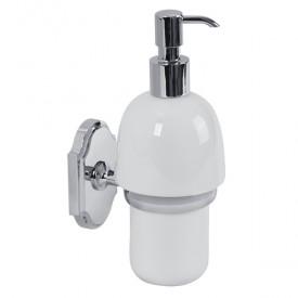 STANFORD Дозатор жидкого мыла настенный, хром/керамика