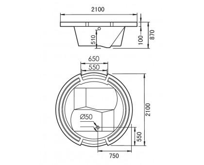 Акриловая ванна Gemy G9060 K