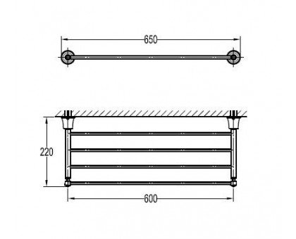 Полка для полотенец ART&MAX AM-F-8983