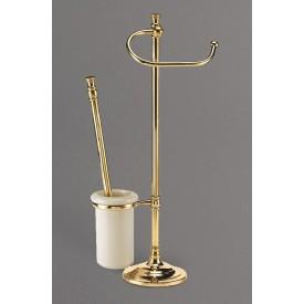 Стойка напольная для унитаза и биде с держателем щетки и туалетной бумаги ART&MAX AM-1948-Do-Ant