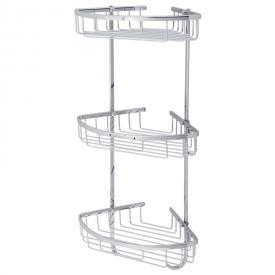 BASKET Решетка тройная угловая 21x21хh58,5 см., хром