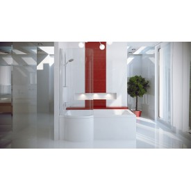 Акриловая ванна с душевой кабиной BESCO INSPIRO 160x70 L WAI-160-NLE