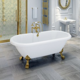 "Акриловая ванна ""Леонесса 1"" на ножках со сливом-переливом Radomir 1-01-3-0-1-138"