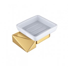 Мыльница настенная NEW VENTURO, золото/черный Boheme New Venturo 10313-G-B