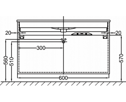 Тумба Jacob Delafon под раковину-столешницу EB2050-RA-G1C