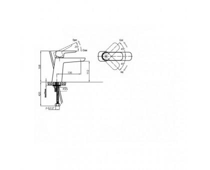 Смеситель на раковину Cezares GRACE-C-LS-01-W0