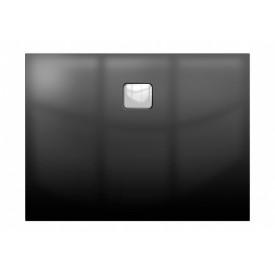 Акриловый душевой поддон Riho 406 120x80 черный глянец, накладка хром DC161600000000S