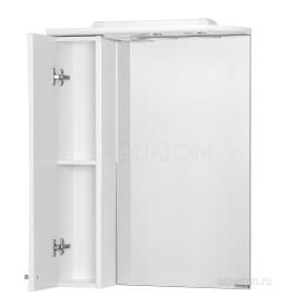 Зеркальный шкаф Джимми 57 левый белый Aquaton 1A034002DJ01L