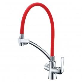 Смеситель Lemark Comfort LM3070C-Red для кухни с подключением к фильтру с питьевой водой