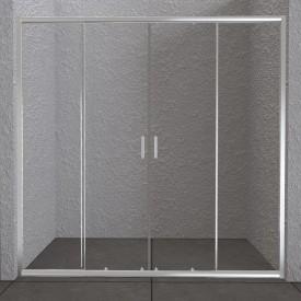 Дверь для душа прозрачная BelBagno UNIQUE-BF-2-150/180-C-Cr