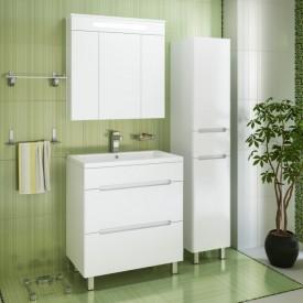 Комплект мебели для ванной Runo Парма 75 2 ящика напольный