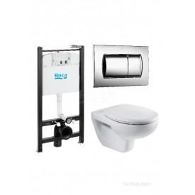 Подвесной унитаз + инсталляция + кнопка + сиденье Roca Victoria Pack 893100000