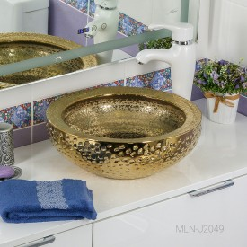 Раковина MELANA MLN- J2049 (золото)