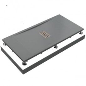 Поддон литьевой Flow ГРАФИТ 1600x800 GOOD DOOR ЛП00109