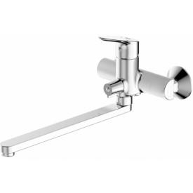 Смеситель для ванны с длинным изливом Bravat Drop F64898C-L