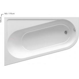 Акриловая ванна Ravak CHROME CA31000000 105 L белая