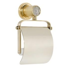 Держатель для туалетной бумаги с крышкой Boheme RoyalCristal 10921-G