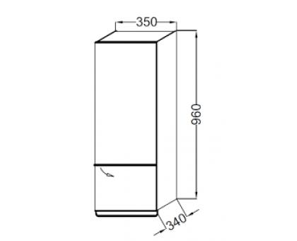 Подвесная полуколонна 35 см Jacob Delafon EB893D-E10