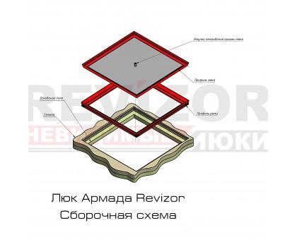 Люк Revizor сантехнический съемный напольный 1370-371 50 60х60