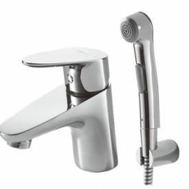 Смеситель для умывальника с гигиеническим душем Bravat Drop F14898C-2