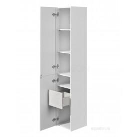 Шкаф - колонна Сакура левая ольха наварра, белый глянец Aquaton 1A219903SKW8L