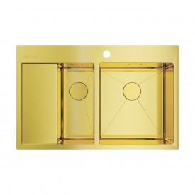 Кухонная мойка Omoikiri Akisame 78-2-LG-R 4973088 светлое золото