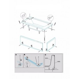 Крепление для ванны Cezares CZR-SCR-FIX-KIT
