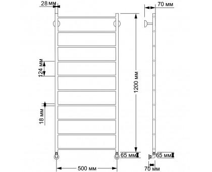 Водяной полотенцесушитель Secado Триада 1 50x120 28/18 1653-2796