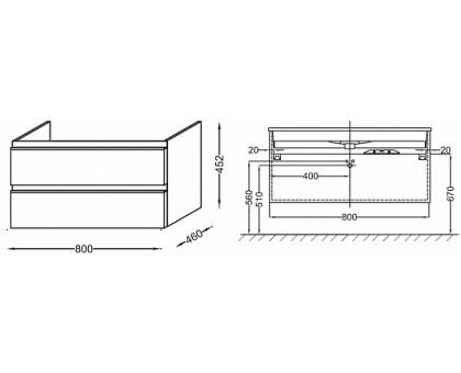 Тумба Jacob Delafon под раковину-столешницу EB2028-RA-G1C