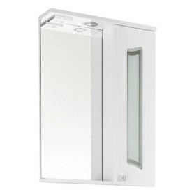 Зеркало VOD-OK Адам 55 см Белое ЛВ/ПР - С