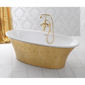 Ванна из искусственного мрамора Cezares MELODIA-170-75-57-ORO
