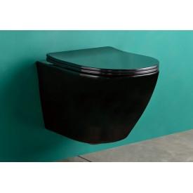 Безободковый подвесной унитаз Gid Tr2198-18 62204y с прочной крышкой-микролифт