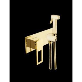 гигиентческая лейка со смесителем Boheme Q 147-GUV золото